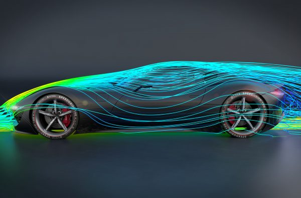 Rendering of a concept car. Designed using Alias and rendered in VRED.